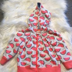 Cat and Jack Girl's Watermelon 18 mo Hoodie